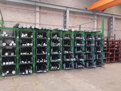Sistema de almacenamiento de perfiles largos